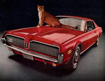 1968 Mercury Cougar.... at the sign of the cat.